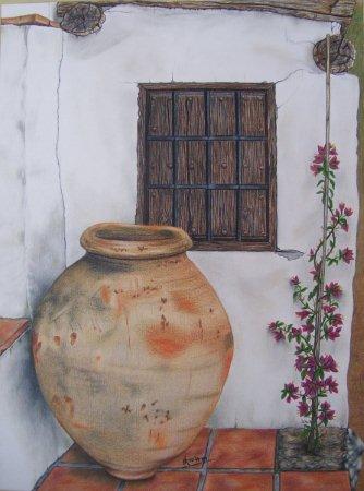 Urna, Ventana y Buganvilla
